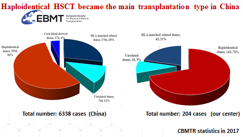 Donor sources for stem cell transplantation activity in China