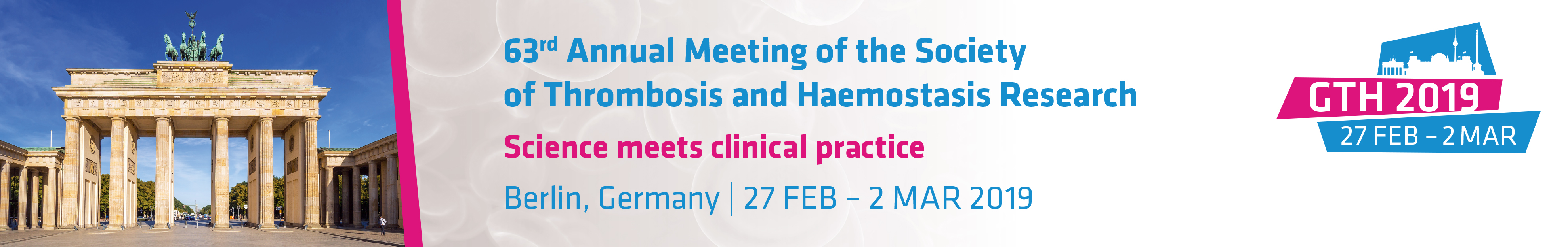 63rd Annual Meeting of the Society of Thrombosis and Haemostasis Research
